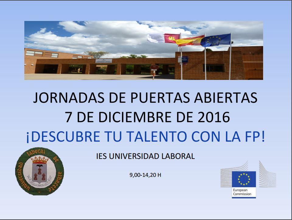 """Descubre tu talento con la FP. Jornada de puertas abiertas en el IES """"Universidad Laboral"""", de Albacete"""