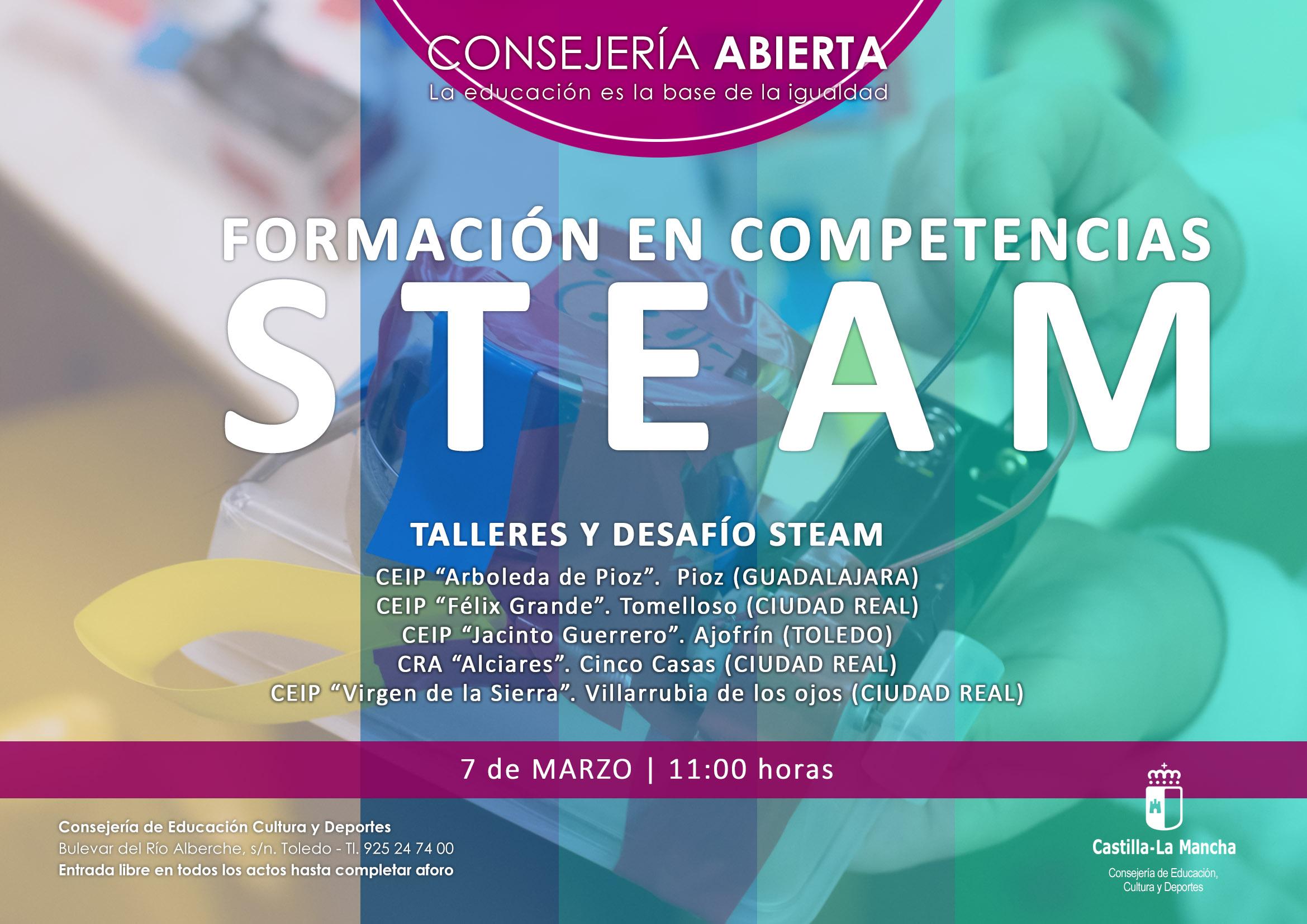 """""""Formación en competencias STEAM"""", Consejería Abierta"""
