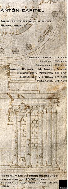 """Ciclo de Conferencias """"Arquitectos del Renacimiento: Alberti"""""""