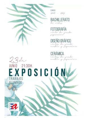 Exposición fin de curso en la Escuela de Arte de Talavera de la Reina