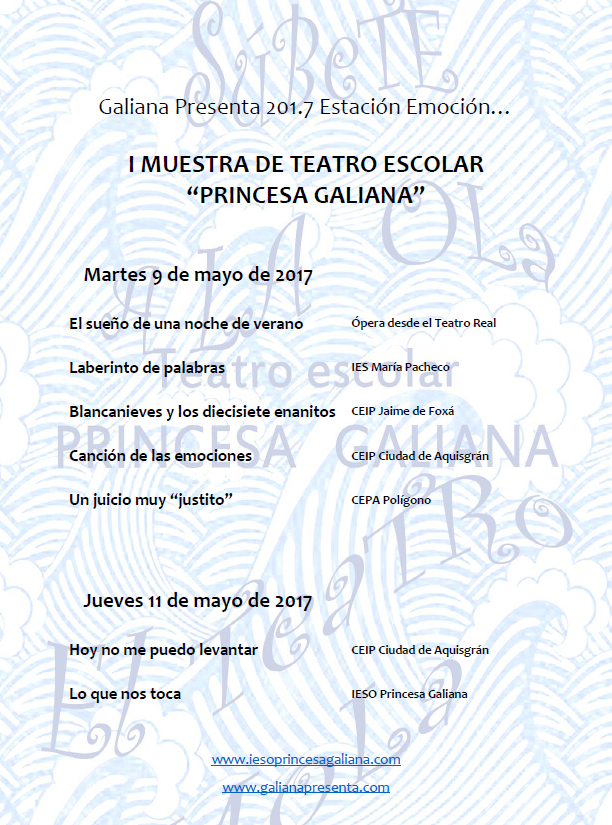 I Muestra de Teatro Escolar Princesa Galiana