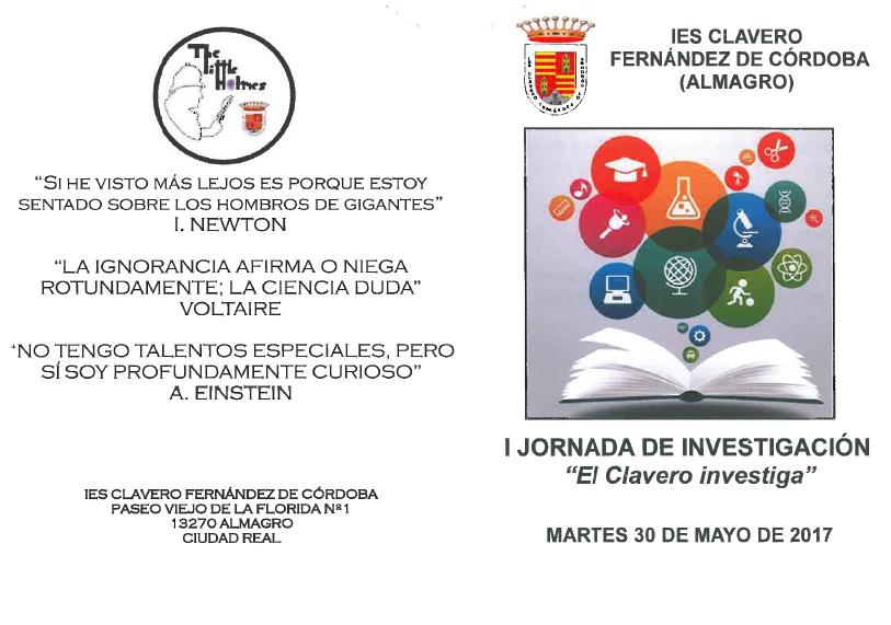 I Jornada de Investigación Científica, IES Clavero Fernández de Córdoba