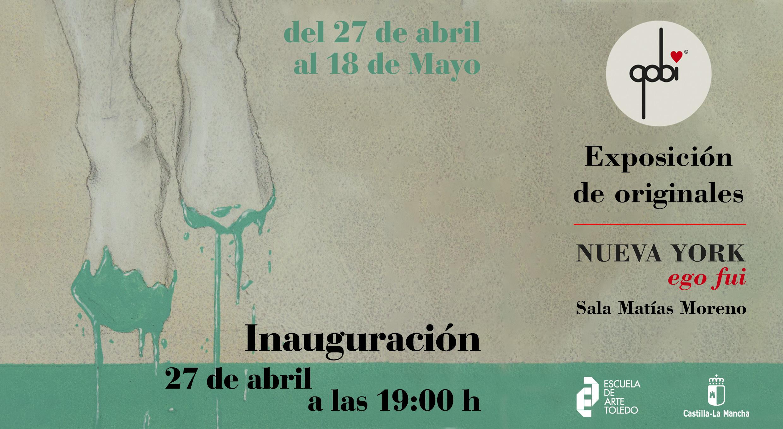 """Exposición """"Nueva York, ego fui"""" del Ilustrador Roberto Carretero, """"Gobi""""."""