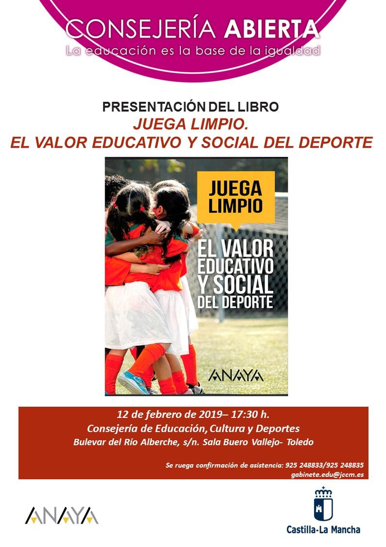 """Presentación del libro """"Juega Limpio. El valor educativo y social del Deporte"""""""