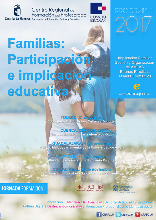 Jornadas de formación del Consejo Escolar de Castilla-La Mancha. Familias: participación e implicación educativa