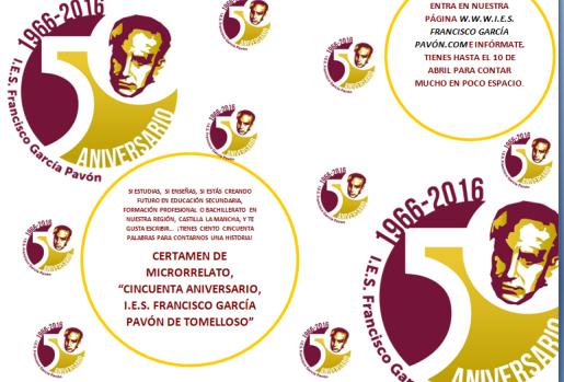 "Certamen de Microrrelato ""50 Aniversario, IES Francisco García Pavón"" de Tomelloso"