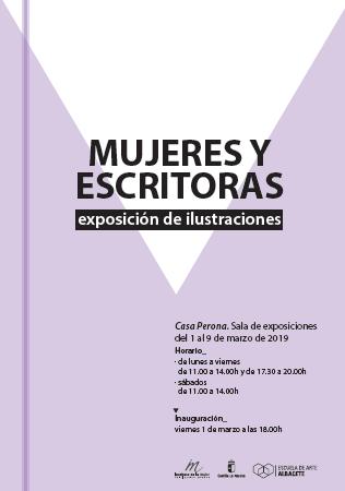 """""""Mujeres y escritoras"""", exposición de ilustraciones"""