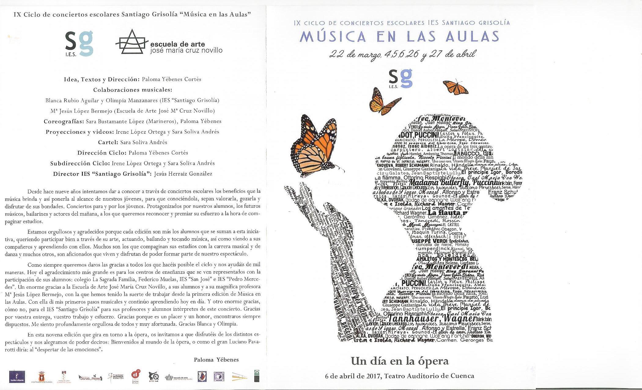"""IX Ciclo de Conciertos Escolares IES Santiago Grisolía """"Música en las Aulas"""""""