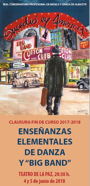 """""""Conciertos de Clausura curso 2017-18"""",  Real Conservatorio Profesional de Música y Danza de Albacete"""