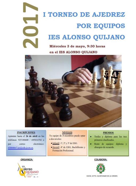 Primer Torneo de Ajedrez Intercentros IES Alonso Quijano