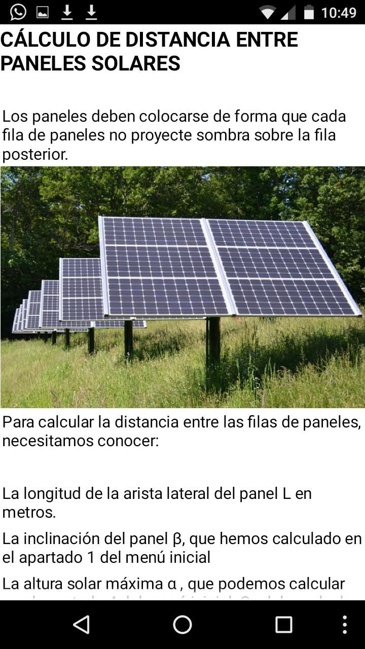 SOLARPE, aplicaciones android para la enseñanza de sistemas fotovoltaicos
