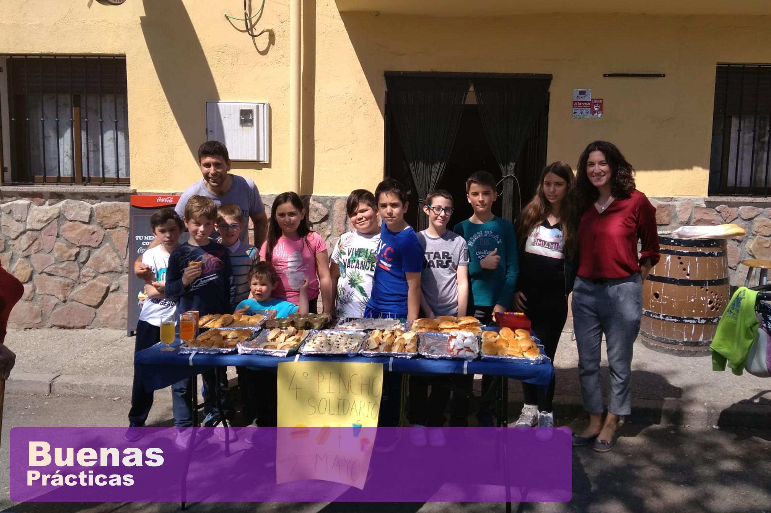 """""""Pincho Solidario"""" en el CRA La Encina de Cogolludo"""