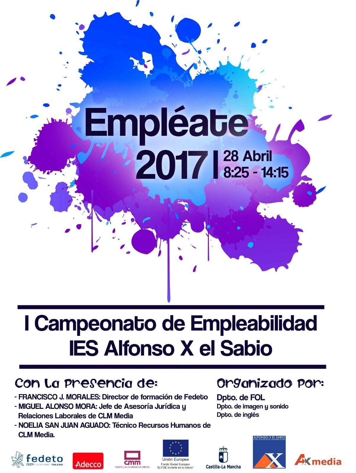 """Empléate 2017"". I Campeonato de Empleabilidad del IES Alfonso X el Sabio"
