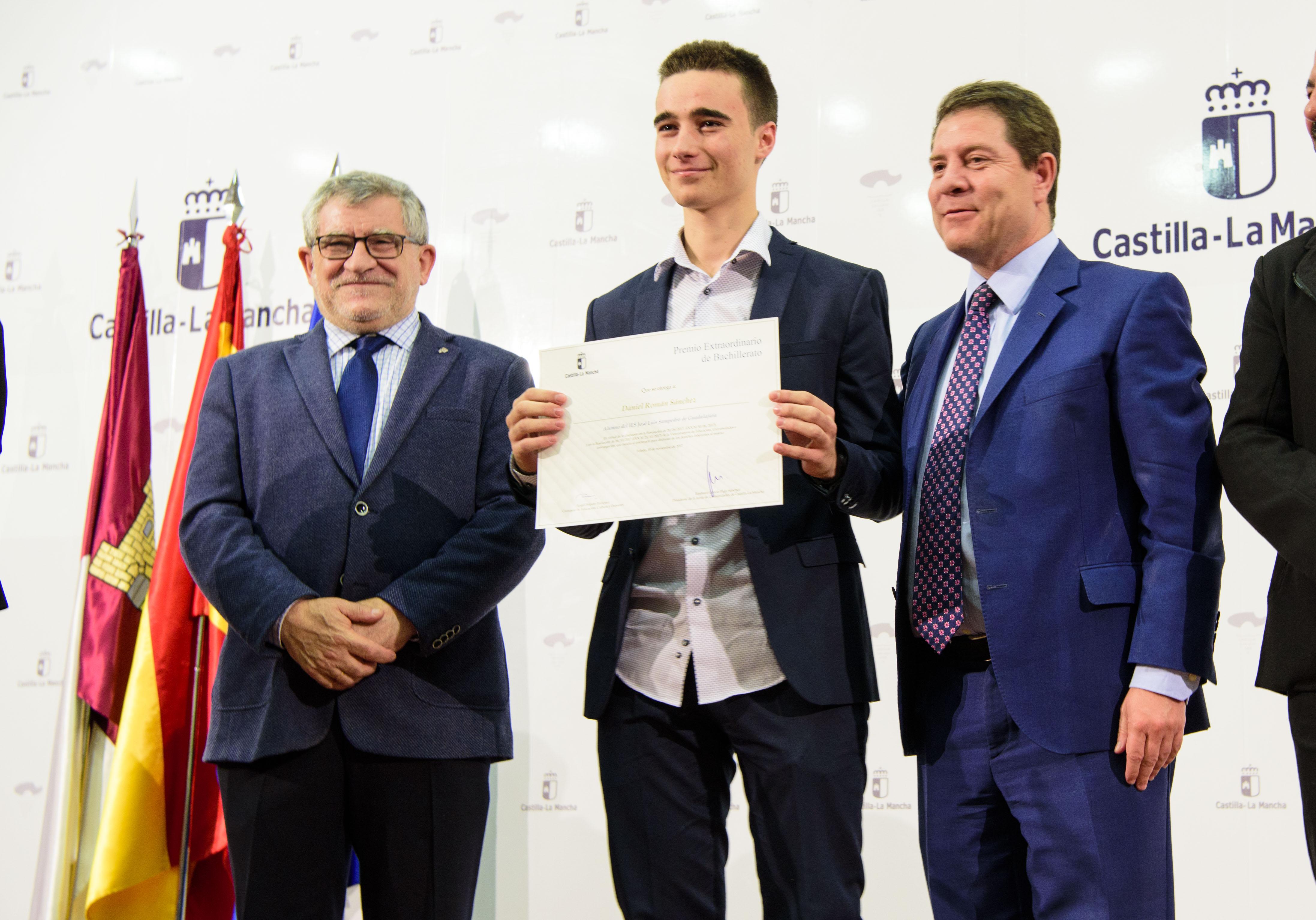 Castilla-La Mancha reconoce el esfuerzo de los mejores expedientes del curso pasado
