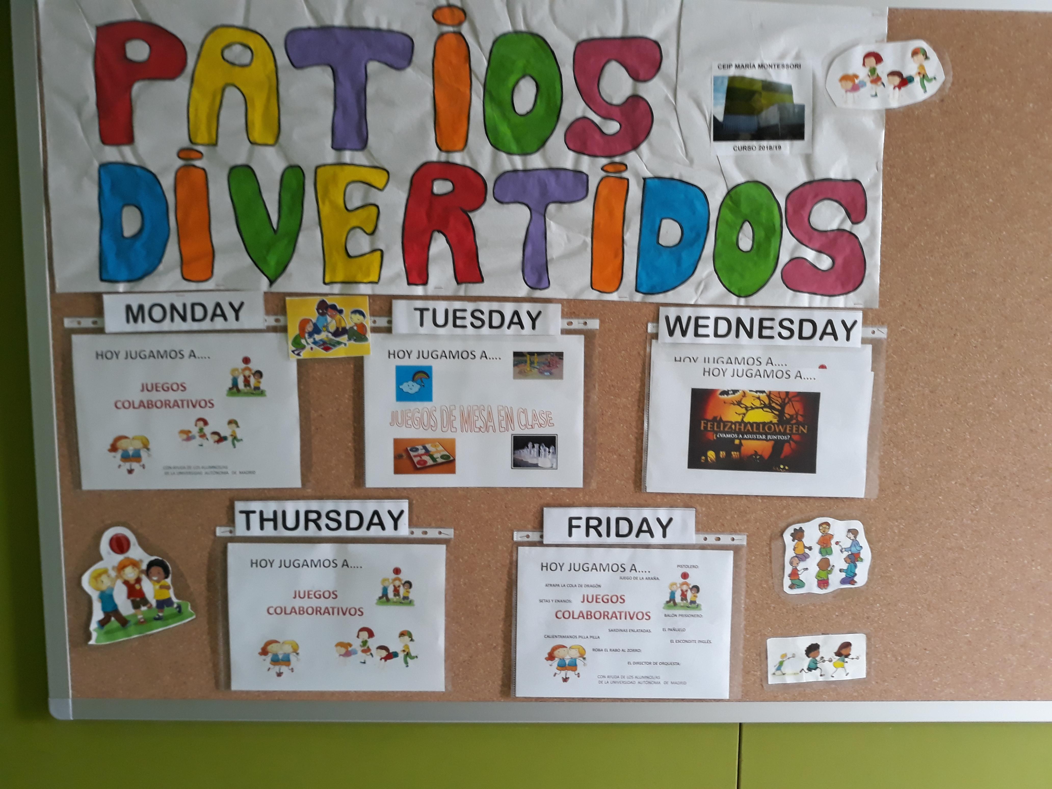 El Colegio Montessori apuesta por la innovación con los patios divertidos