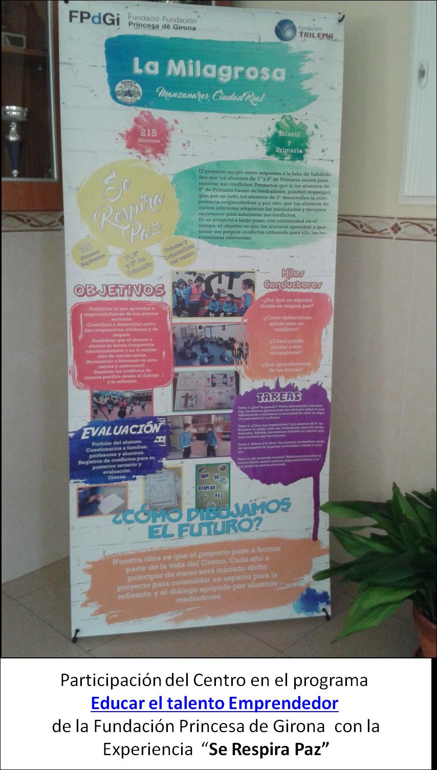 """En el Colegio La Milagrosa """"se respira paz"""""""